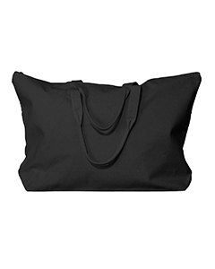 Black Amanda Canvas Tote