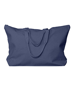 Navy Amanda Canvas Tote