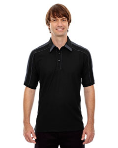 Black 703 Men's Sonic Performance Polyester Piqué Polo