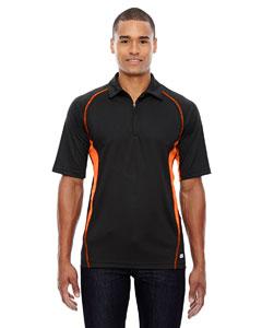 Black/ Mndrn 454 Men's Serac UTK cool.logik™ Performance Zippered Polo
