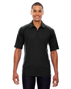 Black 703 Men's Serac UTK cool.logik™ Performance Zippered Polo