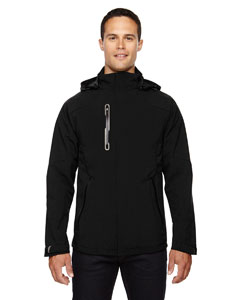 Black 703 Men's Axis Soft Shell Jacket with Print Graphic Accents