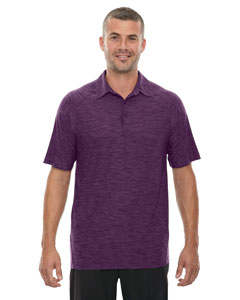 Mulbry Purpl 449 Men's Barcode Performance Stretch Polo