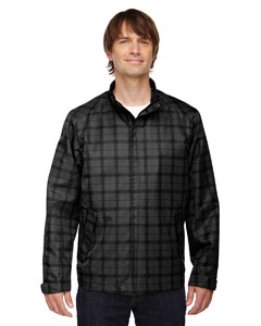 Black 703 Men's Locale Lightweight City Plaid Jacket