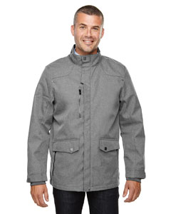 City Grey 458 Men's Uptown Three-Layer Light Bonded City Textured Soft Shell Jacket