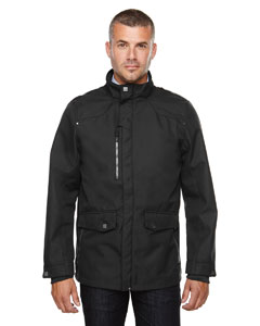 Black 703 Men's Uptown Three-Layer Light Bonded City Textured Soft Shell Jacket
