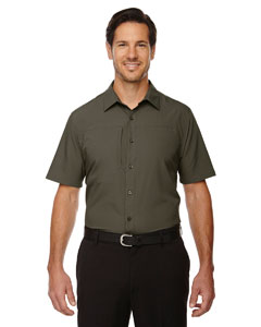 Oakmoss 462 Men's Charge Recycled Polyester Performance Short-Sleeve Shirt