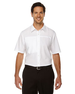 White 701 Men's Charge Recycled Polyester Performance Short-Sleeve Shirt