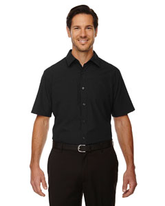 Black 703 Men's Charge Recycled Polyester Performance Short-Sleeve Shirt
