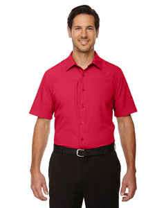 Classic Red 850 Men's Charge Recycled Polyester Performance Short-Sleeve Shirt