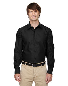 Black 703 Men's Refine Wrinkle-Free Two-Ply 80's Cotton Royal Oxford Dobby Taped Shirt