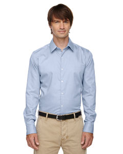Cool Blue 808 Men's Refine Wrinkle-Free Two-Ply 80's Cotton Royal Oxford Dobby Taped Shirt