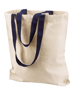 Natural/navy Marianne Cotton Canvas Tote