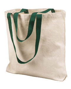 Natural/forest Marianne Cotton Canvas Tote