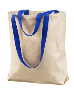 Natural/royal Marianne Cotton Canvas Tote