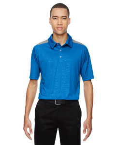 Olympic Blue 447 Men's Reflex UTK cool.logik™ Performance Embossed Print Polo