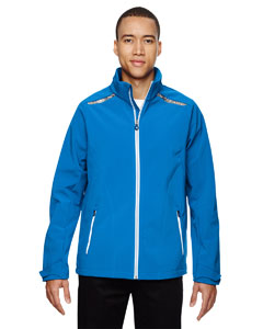 Olympic Blue 447 Men's Excursion Soft Shell Jacket with Laser Stitch Accents