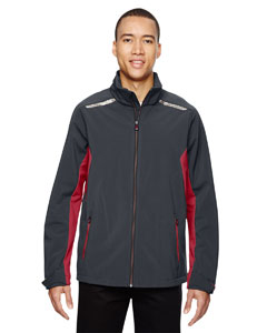 Carbn/oly Rd 467 Men's Excursion Soft Shell Jacket with Laser Stitch Accents