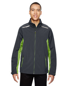 Carbn/acd Gn 472 Men's Excursion Soft Shell Jacket with Laser Stitch Accents