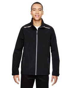 Black 703 Men's Excursion Soft Shell Jacket with Laser Stitch Accents