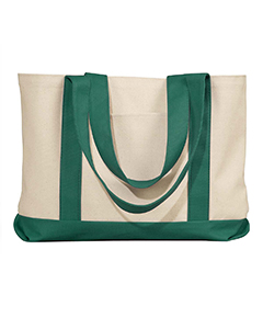 Natural/forest Leeward Canvas Tote