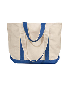 Natural/royal Winward Canvas Tote