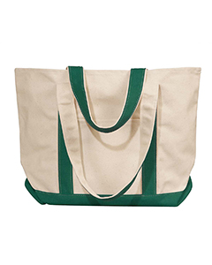 Natural/forest Winward Canvas Tote