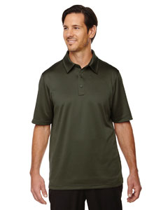 Oakmoss 462 Men's Exhilarate Coffee Charcoal Performance Polo with Back Pocket