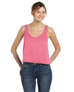 Neon Pink Women's Flowy Boxy Tank