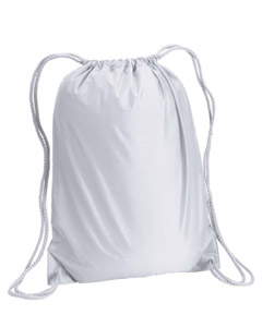 White Boston Drawstring Backpack