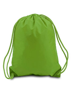 Lime Green Boston Drawstring Backpack