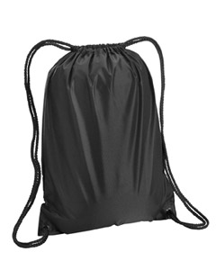 Black Boston Drawstring Backpack