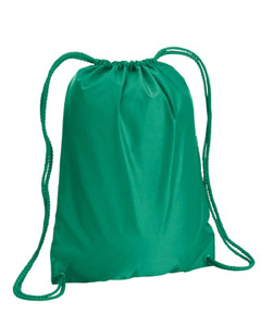 Kelly Green Boston Drawstring Backpack