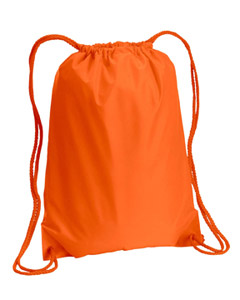 Orange Boston Drawstring Backpack