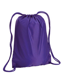 Purple Boston Drawstring Backpack
