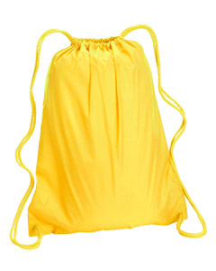Bright Yellow Large Drawstring Backpack
