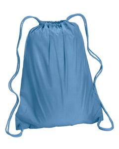 Light Blue Large Drawstring Backpack