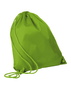 Lime Green Large Drawstring Backpack