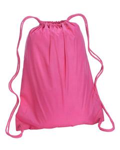 Hot Pink Large Drawstring Backpack