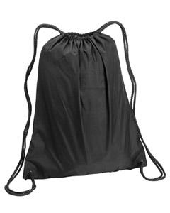 Black Large Drawstring Backpack