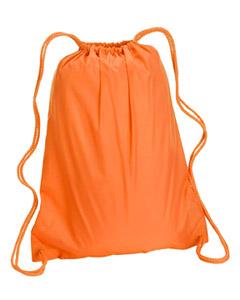 Orange Large Drawstring Backpack