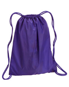 Purple Large Drawstring Backpack