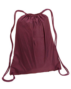 Maroon Large Drawstring Backpack