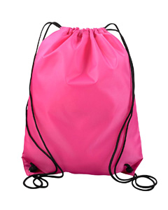 Hot Pink Value Drawstring Backpack
