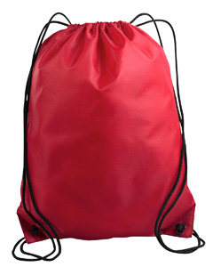 Red Value Drawstring Backpack