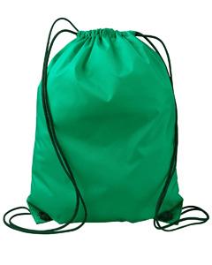 Kelly Green Value Drawstring Backpack