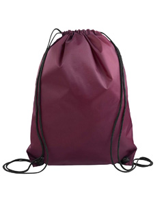Maroon Value Drawstring Backpack