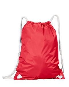 Red White Drawstring Backpack