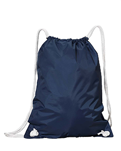 Navy White Drawstring Backpack