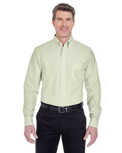 Lime Men's Classic Wrinkle-Resistant Long-Sleeve Oxford
